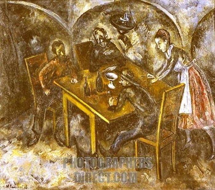 Н. Синезубов «В трактире» 1919 г. Одесский художественный музей, Украина