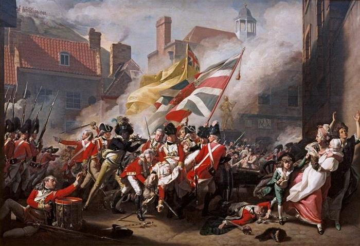 Джон Синглтон Копли. Битва при Джерси (Смерть майора Пейрсона). Холст, масло. 1782-1784 гг.