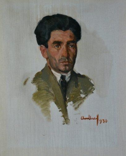 Атанас Михов. Мужской портрет. Картон, масло. 1930 г.