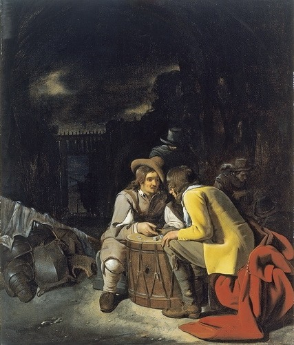Михаэль Свертс  «Солдаты, играющие в кости» Холст, масло. ок. 1656-1658 г.