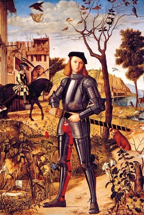 Витторе Карпаччо  «Молодой рыцарь на фоне пейзажа,»  1510 г.