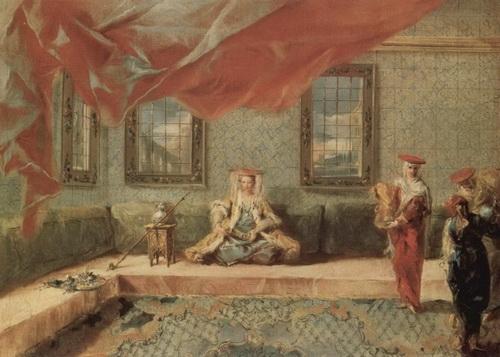 Джанантонио Гварди «Сцена в гареме» Холст, масло. 64х46 см