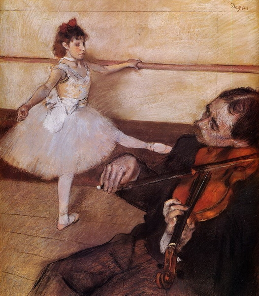 Эдгар Дега «Урок танцев»  1879 г.  65х66см  Metropolitan Museum of Art, New York City