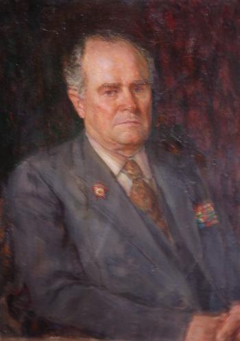 Портрет В. И. Орлова - участника ВОВ. 1985 г. холст, масло. 80х60 см