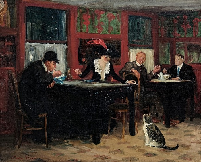 Джон Слоун. Китайский ресторан. 1909 г. (Memorial Art Gallery of the University of Rochester)