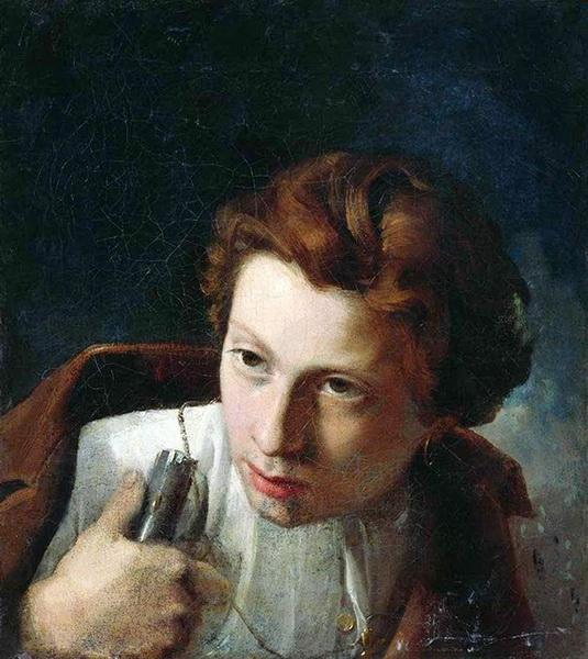 «Мужской портрет» Холст, масло. Челябинская областная картинная галерея