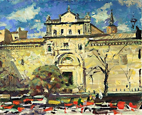 Николай Павлович Толкунов «Старый город»   Холст, масло 38х46 см 1964 г.