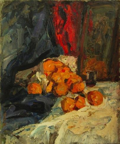 В.Г. Гремитских «Натюрморт с апельсинами» Холст, масло. 85х65 см  1972 г.