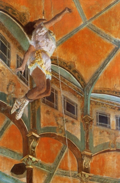 Эдгар Дега «Мисс Лола в цирке Фернандо» 1879 г. 177х77см National Gallery, London, UK