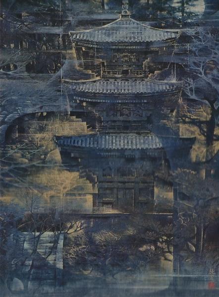 Сумио Гото  «Одинокая тень» картина 130х88 1971 г.