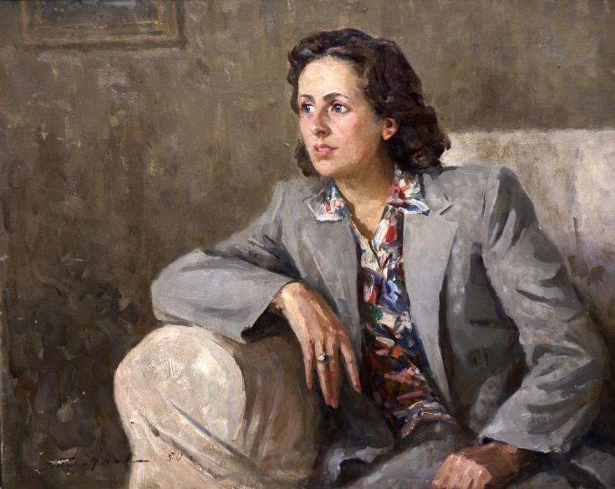 А.И. Плотнов  «Молодая актриса» (В.Миньковская), 1950 год