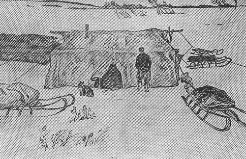 Рустам Исмаилович Яушев «Палатка оленеводов» 1973 г.