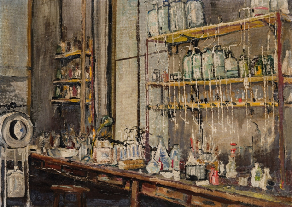 «Лаборатория» Фредерик Грант Бантинг 1925 год, 25.1×34.6 см