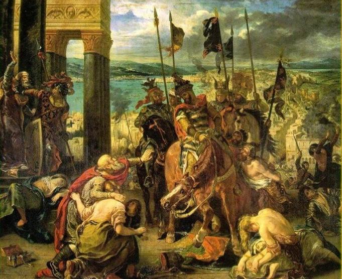 Эжен Делакруа «Взятие крестоносцами Константинополя» 1840 г. 410x498 см Лувр, Париж