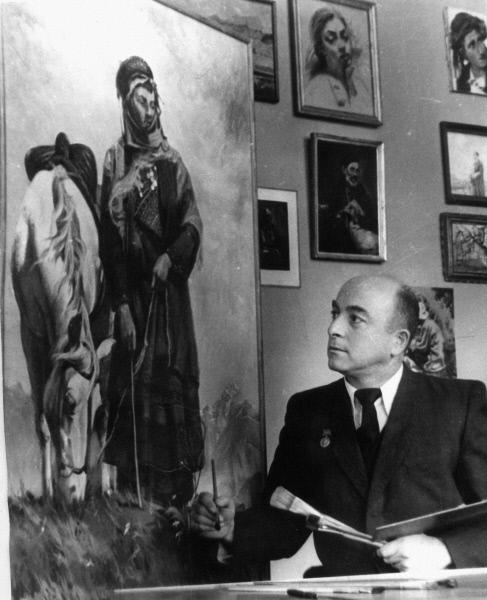 Грузинский живописец и график, народный художник СССР Уча Малакиевич Джапаридзе
