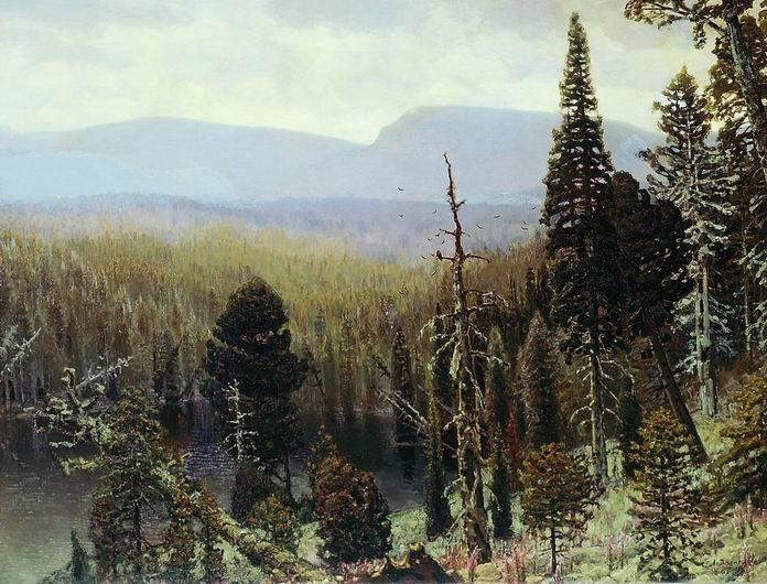 Апполинарий Васнецов. Тайга на Урале. Синяя гора, 1891 г.