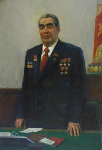 Портрет Л.И. Брежнева. 1982 г. холст, масло. 150х100 см