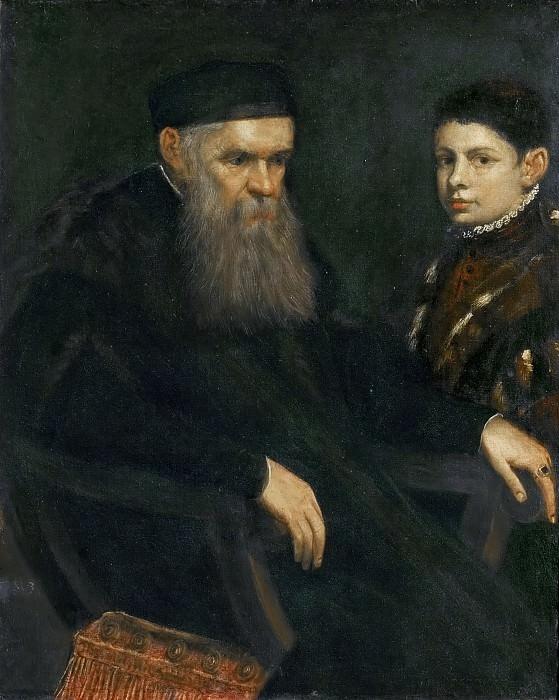 Тинторетто «Старик и мальчик» 1565 г. Холст, масло. 103х83 см. (Из собрания музея истории искусств, Вена, Австрия).