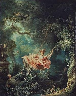 Оноре Фрагонар «Качели» Холст, масло. 81 × 64,2 см Около 1767 г.