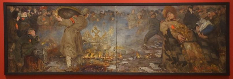 А.И. Вахрамеев. Жгут орлов. Xолст, масло. 88x285 см, 1917 г. Государственный Русский музей.