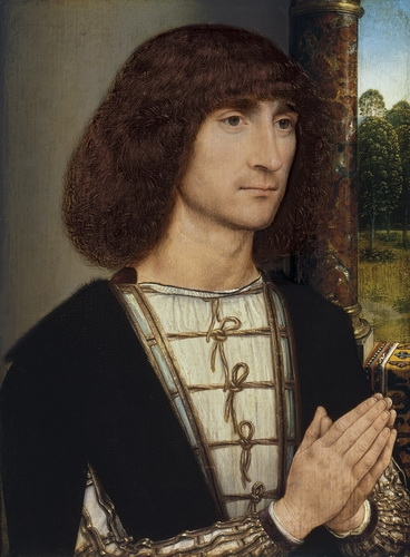 Ганс Мемлинг «Портрет молодого человека» Дубовая доска, масло.