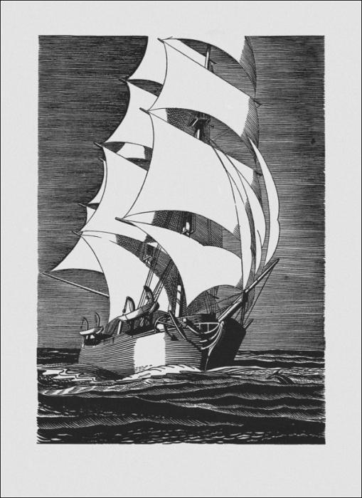 Рокуэлл Кент. Иллюстрация к роману Германа Мельвила «Моби Дик, или Белый кит».