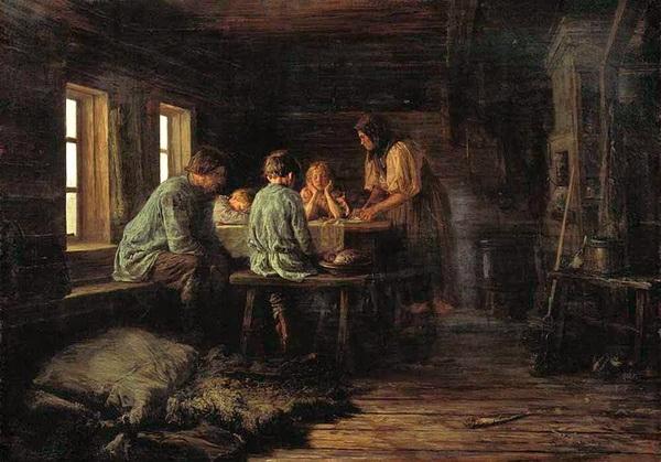«Бедный ужин» 1879 г. Холст, масло. Иркутский областной художественный музей им. В.П.Сукачева
