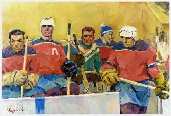 Суровцев Андрей Петрович «Хоккей с шайбой» 1961 г.