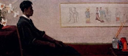 Иззат Клычев. Портрет китайского художника Цы-Му-дуна. Масло.