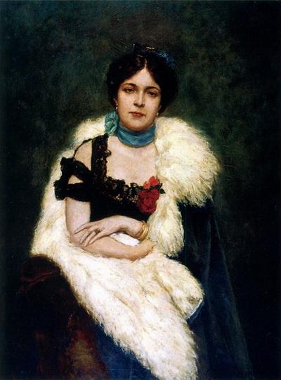 Павел Сведомский. Портрет  Анны Николаевны Кутуковой, жены Александра.