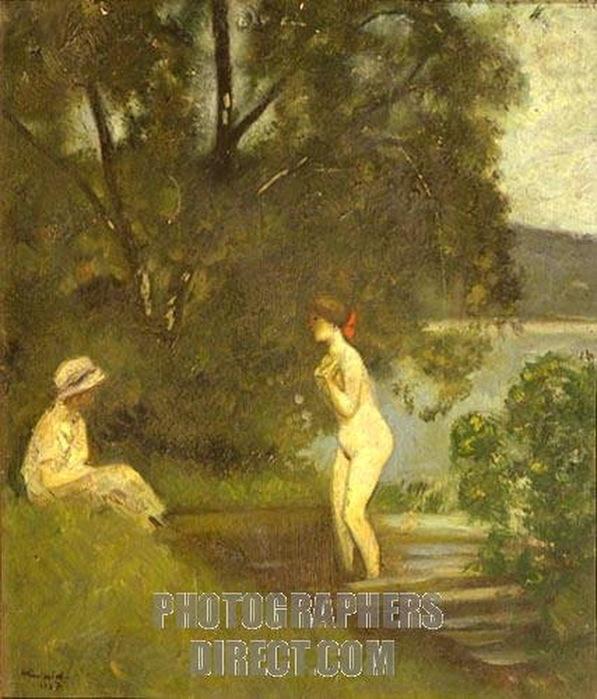 Н. Синезубов «Купальщицы» 1927 г. Государственная Третьяковская галерея