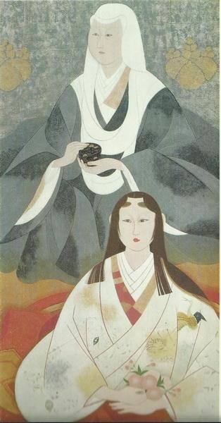 Эйгэцу Китадзава  «Нэнэ и Чия-чия» картина 180x89  1970 г.