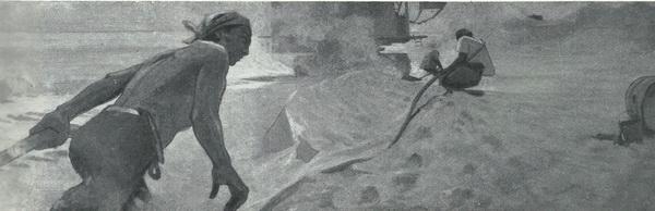 Иззат Клычев. Путь к воде. Масло. 1959 г.