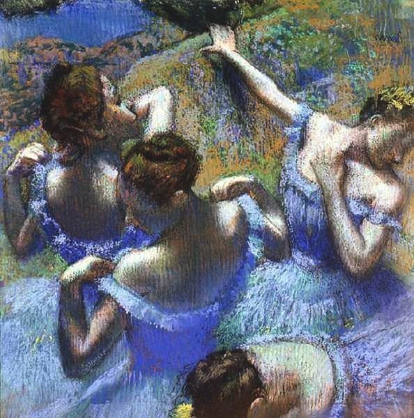 Эдгар Дега  «Голубые танцовщицы»  1898 г.