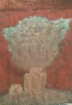Соколов А. Д. «Букет» 1970-е гг., бумага, смешанная техника, 60 x 40 см