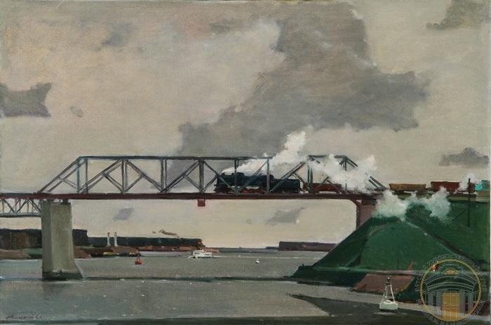 Георгий Григорьевич Нисский. Мост на канале им. Москвы.