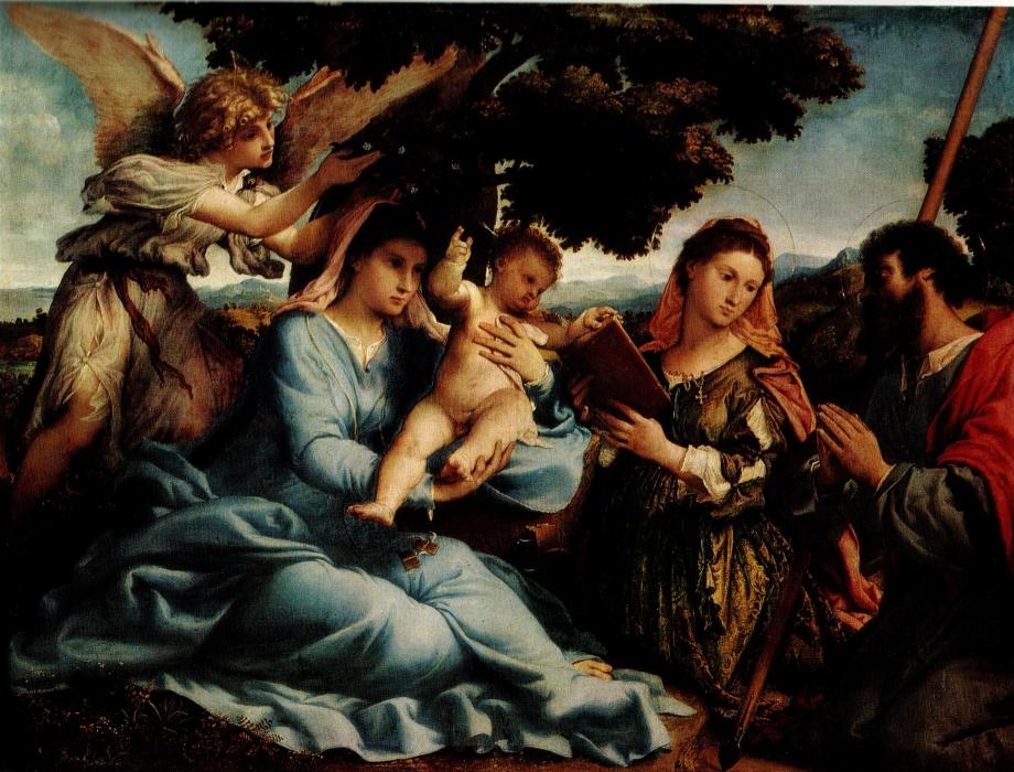 Лоренцо Лотто «Мадонна со святыми Екатериной и Иаковом Старшим»