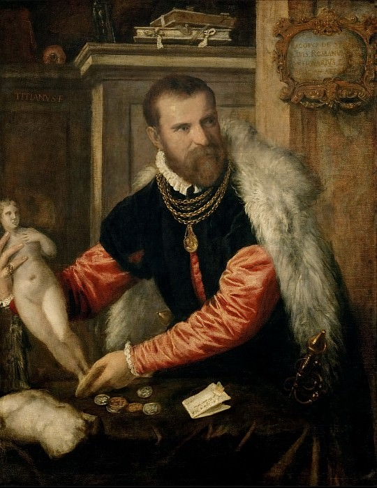Тициан «Портрет Якопо Страда»  Холст, масло. 125X95 см.  (Из собрания музея истории искусств, Вена, Австрия).