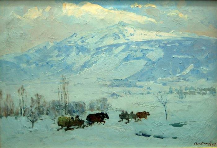 Атанас Михов. Зимний пейзаж.