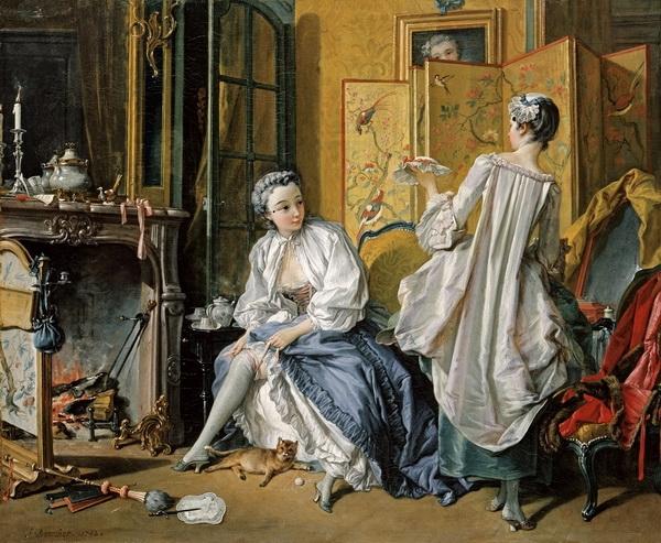 Франсуа Буше «За туалетом» 1742 г.