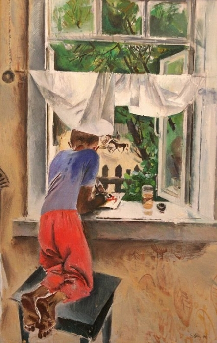 Е. Моисеенко «Юный художник»