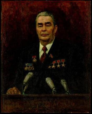 Зодчий мира. Портрет Л.И. Брежнева. 1980 г. холст, масло. 119,5х95,0 см