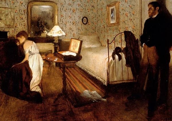 Эдгар Дега «Мужчина и женщина в интерьере»  1874 г.