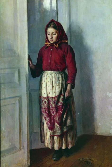 Николай Ярошенко «Девушка-крестьянка». Холст, масло. 1891 г.