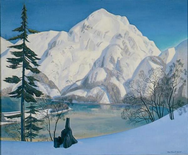 Рокуэлл Кент «Аляска. Вид с Лисьего острова зимой». 1918 1919 гг.