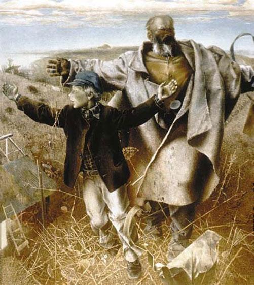 А.В.  Учаев  «Возвращение пахарей». 1976. Х., м. 170х150, Государственный Русский музей.
