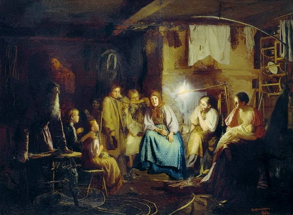 «Бабушкины сказки» 1867 г. Холст, масло. 67 х 92 см. Государственная Третьяковская галерея