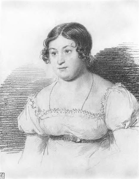 О. Кипренский «Портрет А.М. Ланской» 1815 г.