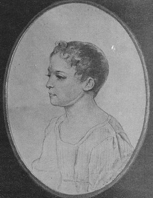П. Соколов «Портрет А.С. Ланской» бумага, акварель, карандаш. 1826 г.