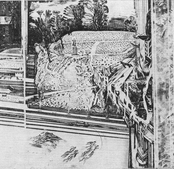 П. Улас «Городская горка с первым снегом» 1979 г. Мягкий лак